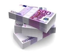 Euro Bills Packs (with clipping path) Stock Illustration