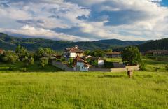 beautiful balkan farmhouse - stock photo