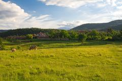 bulgarian village - stock photo