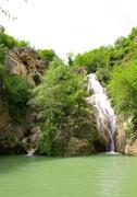 hotnica waterfall 2 - stock photo