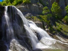 hristovski waterfall 4 - stock photo