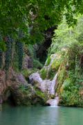 kaya bunar waterfall 2 - stock photo