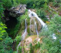kaya bunar waterfall 5 - stock photo