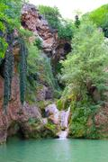 kaya bunar waterfall 4 - stock photo