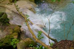 little river splash - stock photo