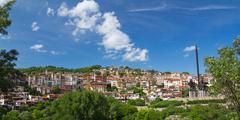 mountain of thousand houses - stock photo