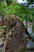 Old wood bridge Stock Photos