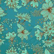 Stock Illustration of seamless tender floral background