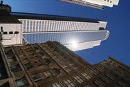 Tall buildings downtown Stock Photos