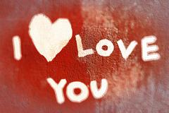 inscription i love you - stock photo