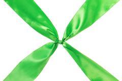 green ribbon cross - stock photo