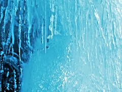 Natural blue ice texture Stock Photos