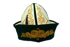 national kazakhstan cap - stock photo