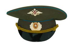 Russian officer military cap 2 Stock Photos