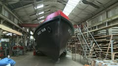 Dunkirk Little Ship Fire Boat Massey Shaw in Boat Yard. Wide Stock Footage