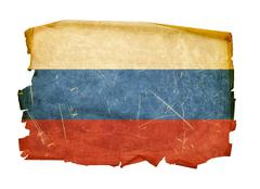 Stock Photo of russia flag old, isolated on white background