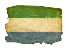 Stock Photo of sierra leone flag old, isolated on white background.