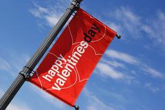 Happy valentines sign Stock Photos