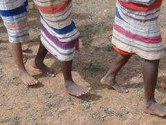 Detail, feet of women dancing .. Stock Photos