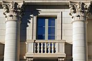 Window with balcony Stock Photos
