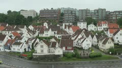 Norway Stavanger old town s Stock Footage