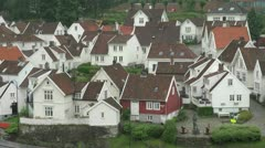 Norway Stavanger old town houses s1 Stock Footage
