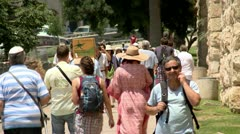Tourists in the Old City of Jerusalem 2 Stock Footage