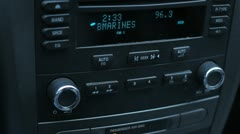 Car radio knobs and buttons Stock Footage