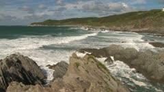 Devon Atlantic Coastline Stock Footage