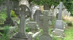 Old Cemetery Graves Stock Footage