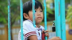 Vietnamese Children at school Stock Footage