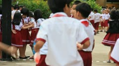 Vietnamese Children at school 5 Stock Footage