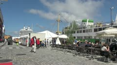 Norway Stavanger cafe sa Stock Footage