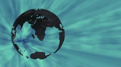 Rotating Earth Model on Blue Background Stock Footage