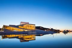 oslo opera house, norway - stock photo