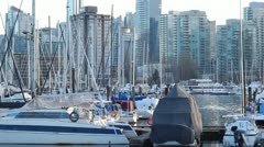Vancouver Stanley Park Marina in Winter Stock Footage