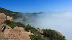 Fog Rolling In On California Hills HD Timelapse Stock Footage