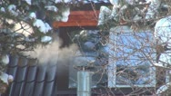 Steam from a Kitchen of a Restaurant in the Mountains, Smoke Stock Footage