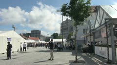 Norway Stavanger festival time lapse s Stock Footage
