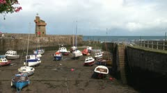 Waterless Harbour Stock Footage