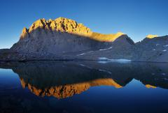 Mount williamson reflection Stock Photos