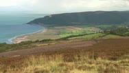 Stock Video Footage of Exmoor Coastline