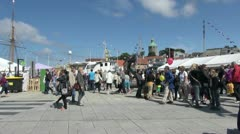 Norway Stavanger festival editorial sa Stock Footage