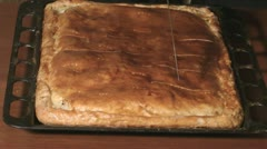 Pie cutting. Stock Footage