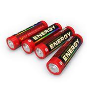 Four AA batteries Stock Illustration