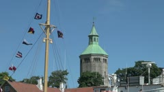 Norway Stavanger tower zoom out s Stock Footage