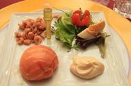 Stock Photo of smoked salmon appetizer