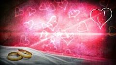 Wedding Valentine no text - stock footage