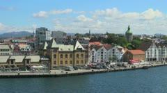 Norway Stavanger harbor view s Stock Footage