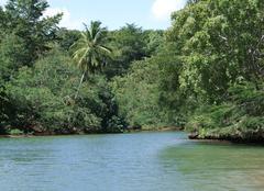 dominican republic waterside scenery - stock photo